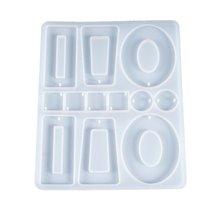 Кристальная эпоксидная смола форма серьги кулон литье силиконовая