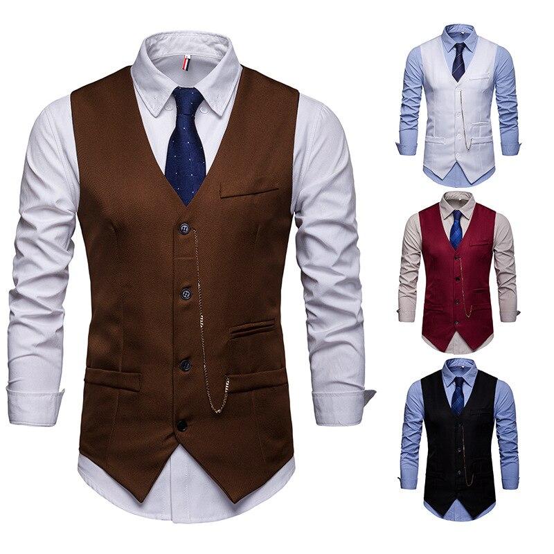 European Version Of Men's Accessories With Club Suit Vest Jacket
