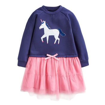 1-7 Years Floral Cotton Dress for Kids Baby Girl  Long-sleeved Doll Collar Clothes for Toddler Girl  for Autumn and Spring  2020 - Color 9, 18M