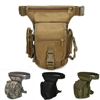 Molle 800D Tactical Military Army Drop Leg Bag Tool Fanny Thigh Pack Hunting Waist Motorcycle Riding Men s Packs