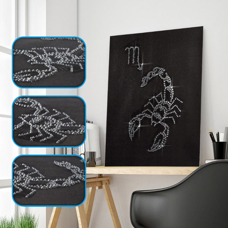 Scorpion 5D DIY Diamond Painting by Number Kit Dril Beads Crystal Rhinestone Embroidery Cross Stitch Picture in Diamond Painting Cross Stitch from Home Garden