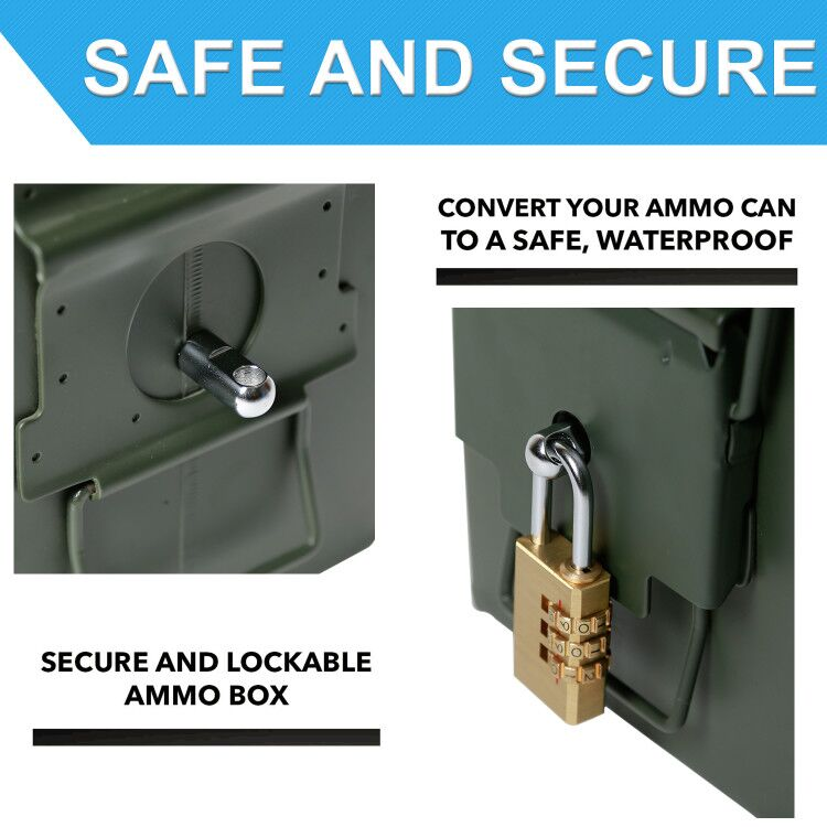Nrpa8hardware Kit Bolt Case Gun Gun Lock Pistol Ammo Safe Box Ammunition Bullet Can Steel