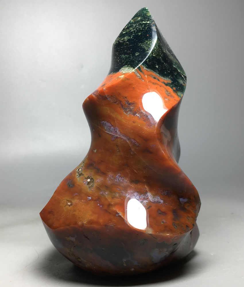 560 г натуральный кристалл целебный фэншуй, украшение интерьера полировка океана яшма пламя