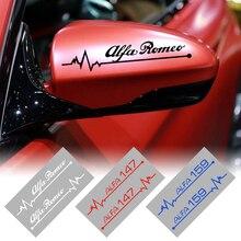 2 шт., автомобильные наклейки на зеркало заднего вида для Alfa Romeo 159 147 156 giulietta 147 159