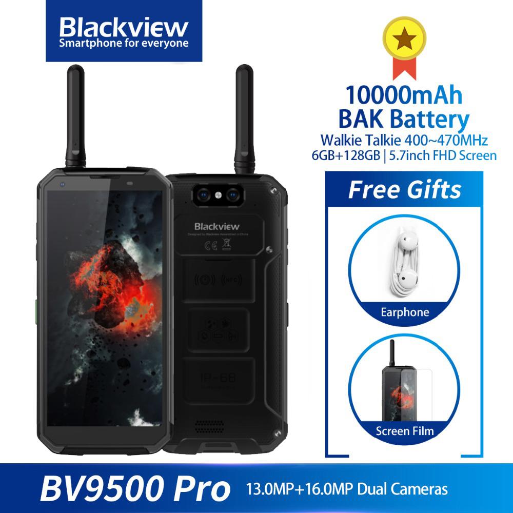 Blackview BV9500 Pro IP68/IP69K Rugged Phone 6GB 128GB 10000mAh QC 16.0MP Camera Octa Core 18:9 NFC Walkie Talkie Smartphone image
