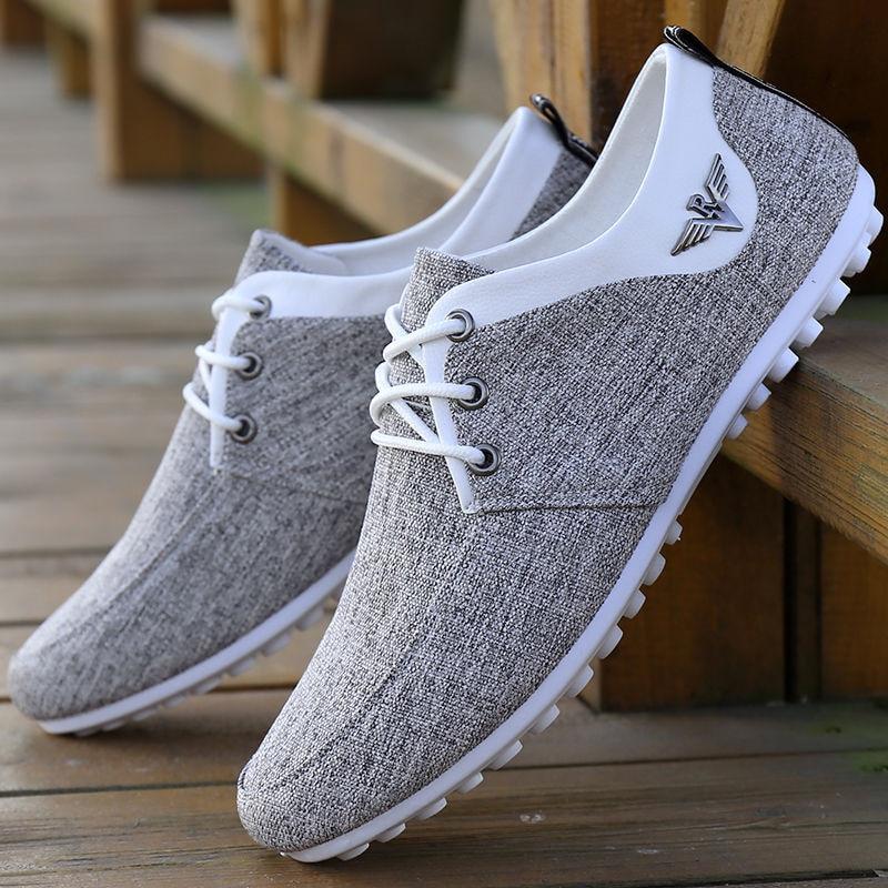2020 Men Casual Shoes Mens Canvas Shoes For Men Shoes Men Fashion Flats Brand Fashion Zapatos De Hombre Men's Driving Shoes