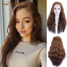 I's a Wig Synthetic Lace Front Wig 13X4 Long Wavy Brown Lace
