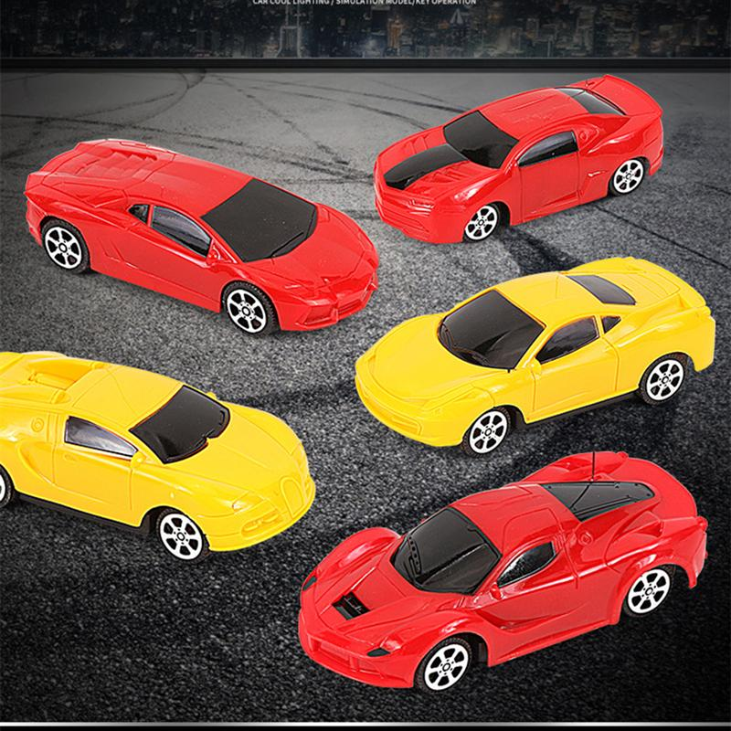 2Pcs 1:26 Simulation Electric Remote Control Vehicle Toy Car Model Cartoon RC Race Car (Car + Remote Random Color And Type)