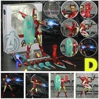 Iron Man Action Figure Mark 85 and Mark 50 Armors with LED Weapons 6inch 3