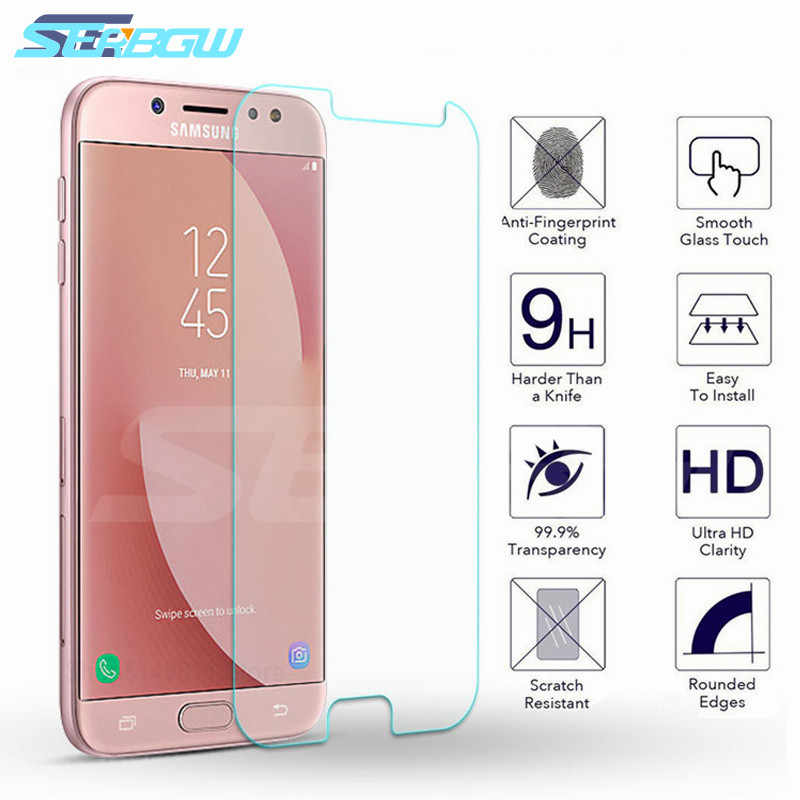 9H Protective Glass For Samsung Galaxy A3 A5 A7 J3 J5 J7 2015 2016 2017 A8 A6 Plus A9 2018 Screen Protector Tempered Glass Film