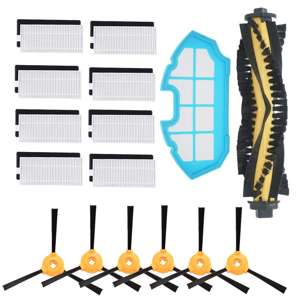 Replacement Kit For EcoVacs Deebot 500 600 601 Robotics Vacuum Cleaner Parts Roller Main Brush Hepa Filters Side Brush
