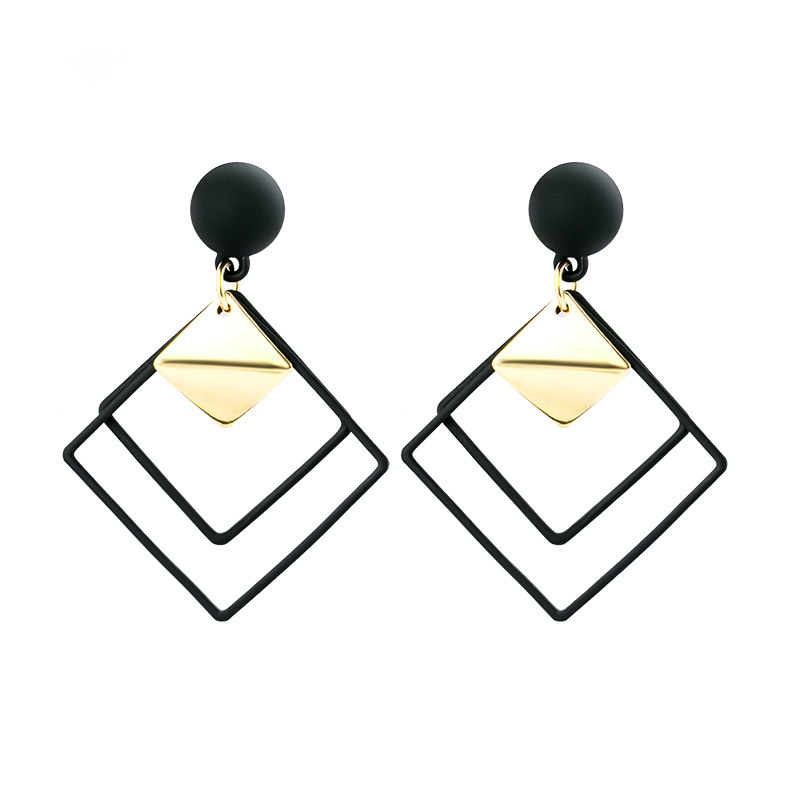 X P New Fashion Round Dangle Drop Korean Earrings For Women Geometric Round Heart Gold Earring