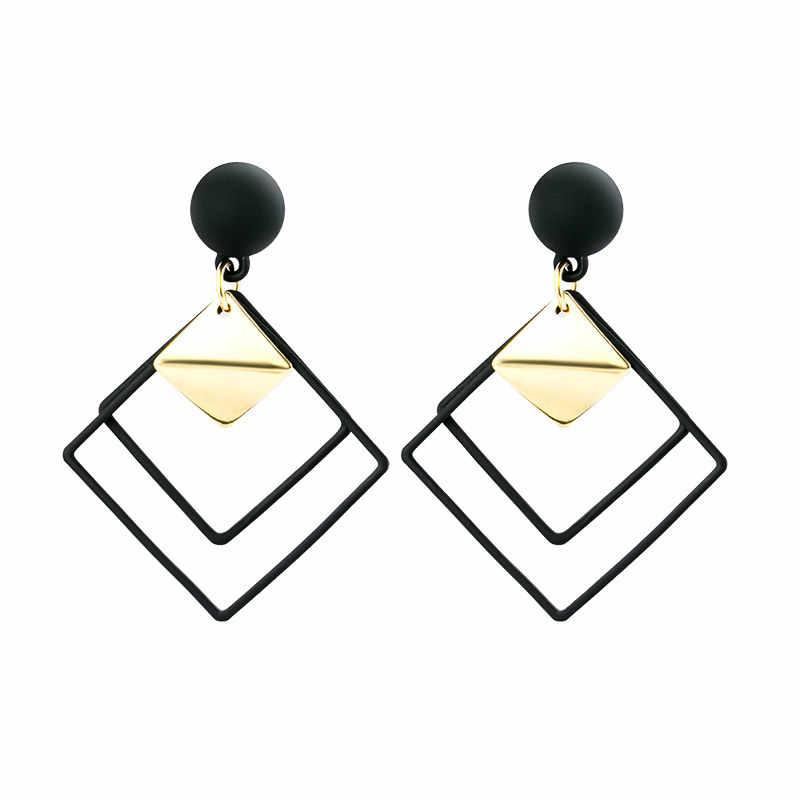 X & P New Fashion Round Menjuntai DROP Korea Anting-Anting untuk Wanita Geometris Bulat Hati Emas Anting-Anting Pernikahan 2020 Kolczyki perhiasan