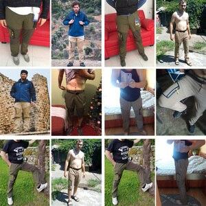Image 3 - Loclimb calça masculina para trilhas, removível, para o verão, acampamento ao ar livre, viagem, esportes de montanha, calça cáqui am002