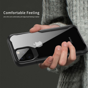 Image 2 - Luphie à prova de choque caso armadura para iphone 11 pro max transparente capa para iphone x xs xr max 6 7 8 plus caso de silicone luxo