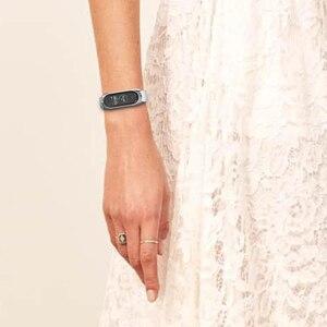 Image 3 - Mi Band 5 Del Cuoio Genuino Del Braccialetto NFC Versione Globale Per Xiaomi Mi Banda 4 Cinghia Mi Band 3 TF Cinghia accessori intelligenti Cinturino