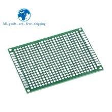 TZT 10 pièces platine de prototypage planche à pain Prototype 5X7cm 432 Points Double face Super haute qualité meilleurs pices vert