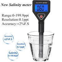 Portable Salinity Meter Salinometer Halometer Salt Gauge Salty Brine SeawaterFood Salinity Tester Salt Concentration Meter40%off|Concentration Meters| |  -