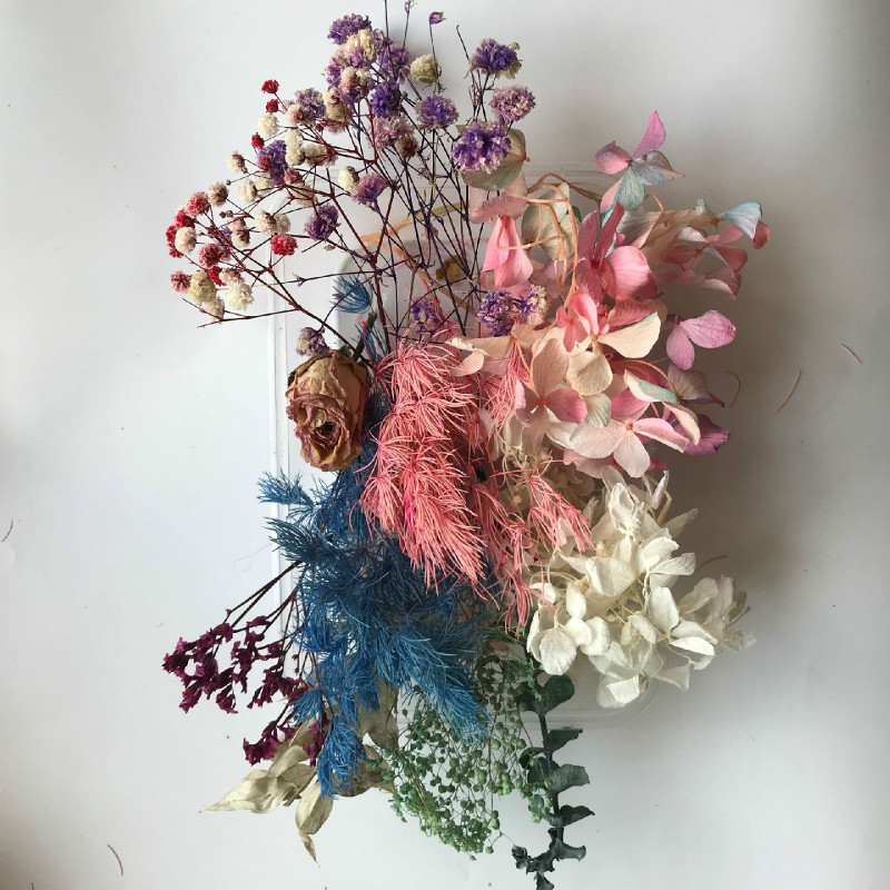 Natural Real Flower Assorted Color Dried Flower Resin Craft Supplies Inclusions Herbarium Sheet Floral Jewelry Making