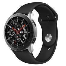 Ремешок спортивный для galaxy watch 46 мм мягкий силиконовый