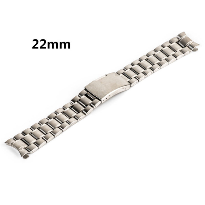18mm/20mm/22mm/24mm Stainless Steel Watch Strap For Men Women's Solid Chain Watch Band Steel Color