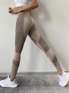 SVOKOR Gym Leggings Peach Fitness-Pants Stretch High-Waist Sports Quick-Drying Hips