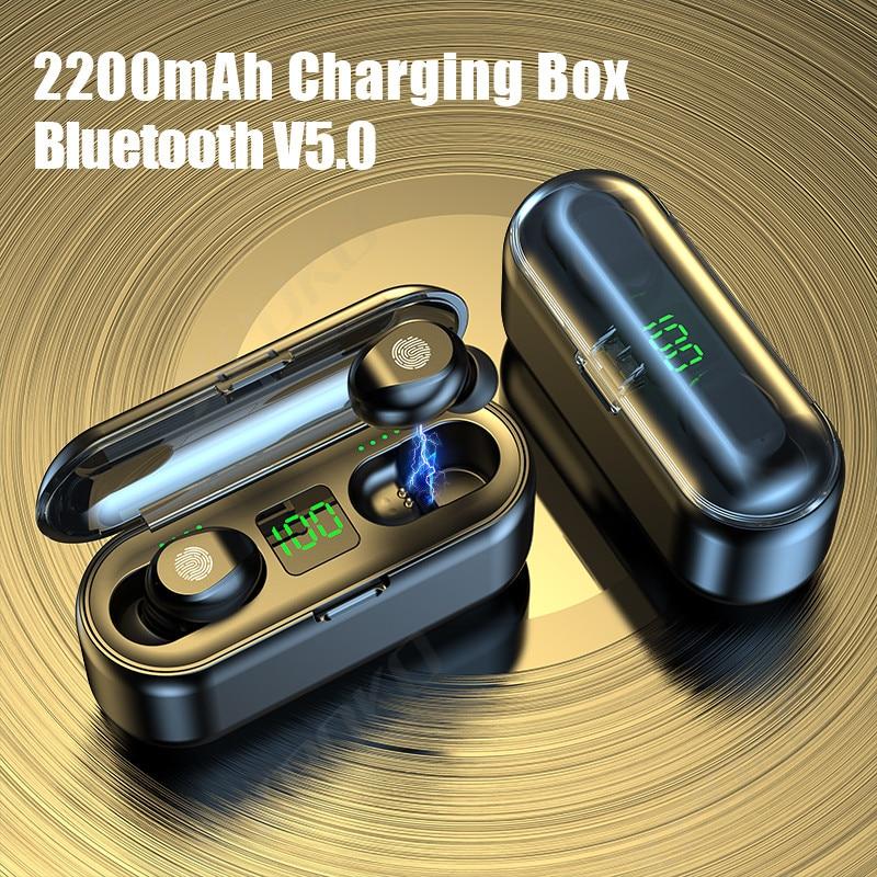 Наушники вкладыши TWS Bluetooth наушники 2200 мАч зарядным устройством Беспроводной наушники 9D стерео спортивные Водонепроницаемый, наушники вкладыши, наушники с микрофоном|Наушники и гарнитуры|   | АлиЭкспресс