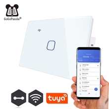 US Wifi App Control Type Wall Light Controller Smart Home Automation Touch Switch Waterproof Fireproof 1G 2G 3G Phone on/off