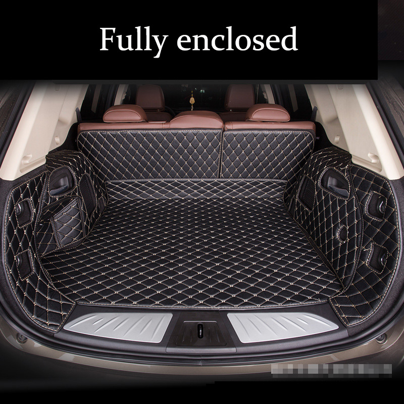 Custom Car Trunk Mat For SKODA Superb Fabia Octavia A5 A7 Rapid Yeti Combi Karop Kodiaq 5seat 7seat 2007-2019s Tail Box Mats