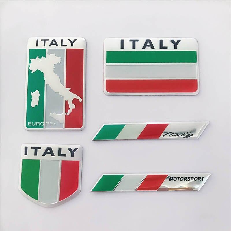 Купить с кэшбэком Country style Car stickers Italy racing car cover occlusion scratch sticker for Alfa Romeo Fiat Ferrari abarth auto accessories