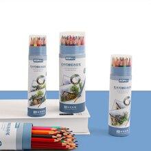 Wood Pencil Art-Supplies Professional Kids Student B for 48-Colors/Box Erasable JIANWU