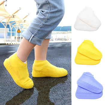 1 pair of waterproof shoe cover silicone unisex S/M/L size protective outdoor camping non-slip rain boot