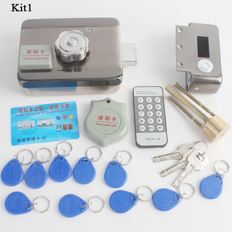 12V RFID Electronic Lock RFID Door Lock Mechanical Key ID Tag Phone Remote Control Ewelink Video Intercom Home Gate Locks