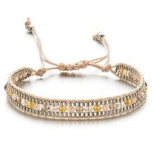 Для мужчин и женщин кожаный браслет кожаные браслеты для мужчин Кристалл Плетеный многослойный наматывающийся браслет для мужчин pulseras para hombre