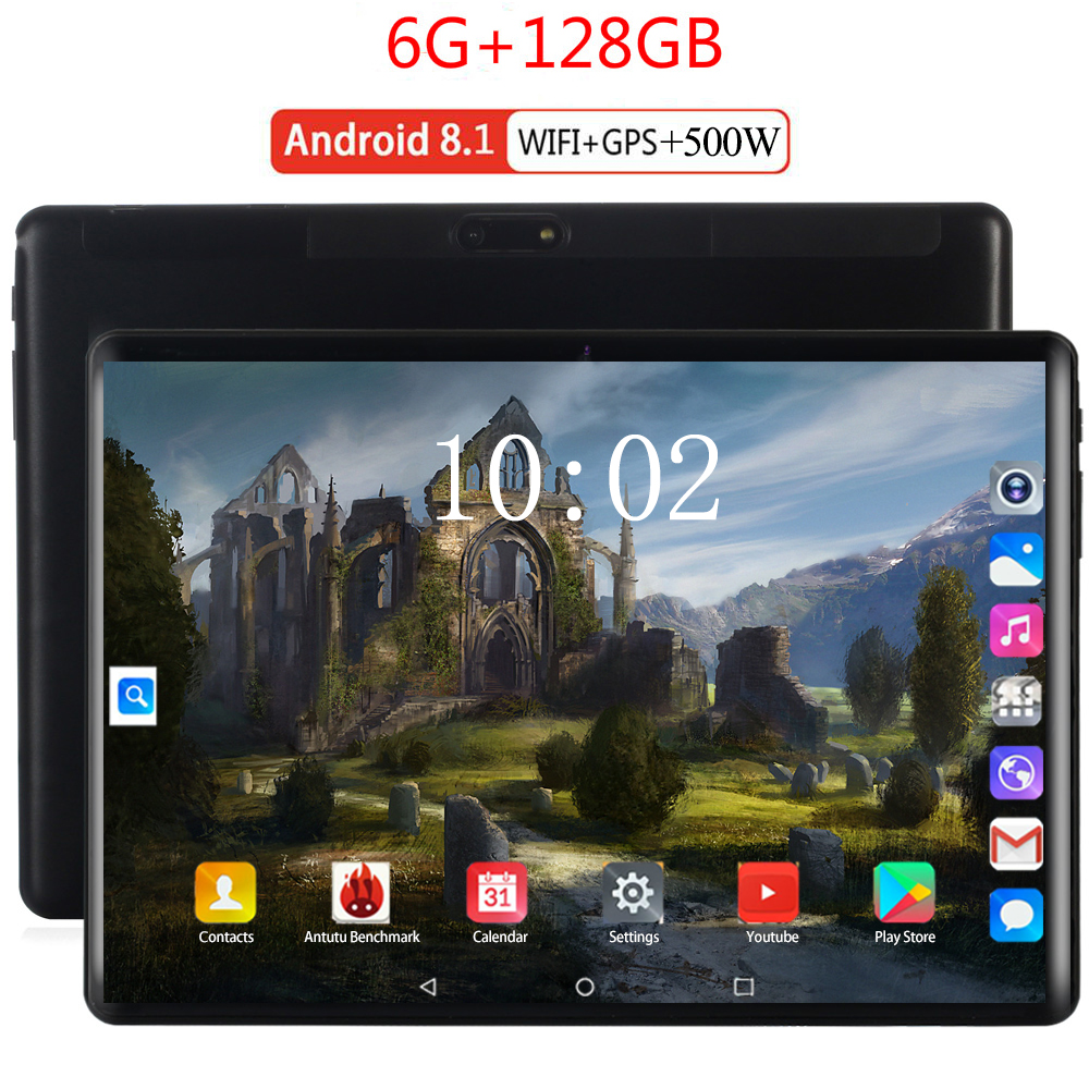 2020 New 10.1 Inch Wifi Tablet PC Ten Core 6GB RAM 128GB ROM IPS 2.5D Tempered Glass 10.1 Tablets Android 9.0 Kids Tablet