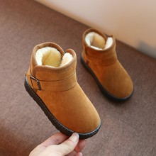 Зимние сапоги для девочек; кожаные детские теплые ботинки; зимняя теплая меховая противоскользящая плюшевая обувь для девочек и мальчиков; кроссовки;# C