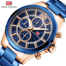 MINI FOCUS Quartz Watches Mens 2019 Top Brand Luxury Analog Watch Military Male Stainless Steel Watch Men Sports Army Waterproof benyar mens watches military army brand luxury sports casual waterproof male watch quartz stainless steel man wristwatch xfcs