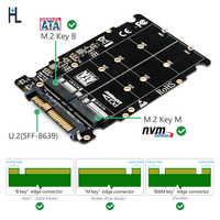 Adaptateur M.2 SSD vers U.2 adaptateur 2in1 M.2 NVMe et SATA-Bus NGFF SSD vers PCI-e adaptateur de SFF-8639 U.2 convertisseur PCIe M2 (Interface non-sata)