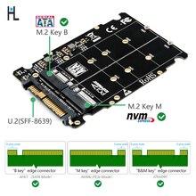 M.2 SSD כדי U.2 מתאם 2in1 M.2 NVMe ו sata אוטובוס NGFF SSD כדי PCI e U.2 SFF 8639 מתאם PCIe m2 ממיר (שאינו SATA ממשק)