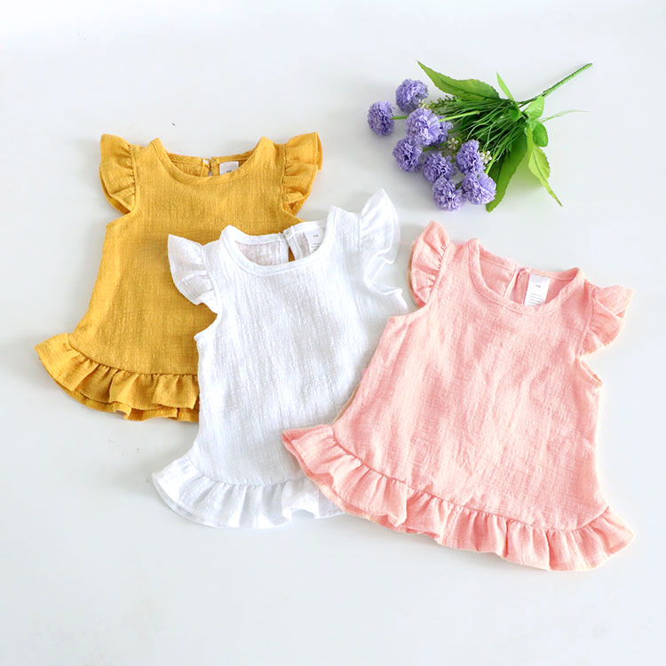 VIDMID 2-6Years Toddler Kids Baby Girls Sleeveless T Shirts Vest Solid Pure Color Casual Baby Summer Tops Clothes P197 1