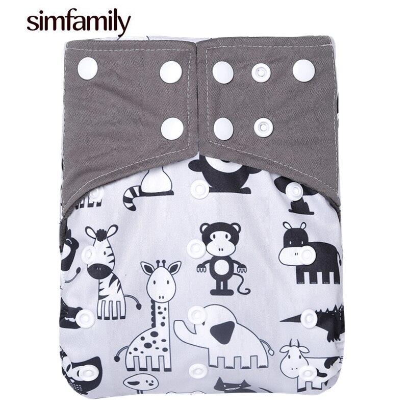 [Simfamily] 1 шт., подгузник из искусственной ткани с карманом, моющиеся регулируемые подгузники для младенцев одного размера