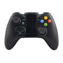 цена на Bluetooth Wireless Gamepad For Android iPhone Game Controller Joystick Joypad With Holder For Smart Mobile Phone