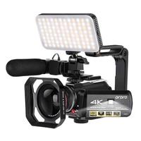 Ordro-cámara de vídeo 4K para registrador, videocámara profesional con visión nocturna IR, WiFi, Vlogging YouTuber, Full HD