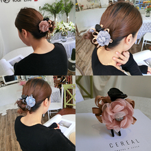 Korea and South medium cloth art is caught clip stereo feeling flower hairpin hair act the role ofing dish impl