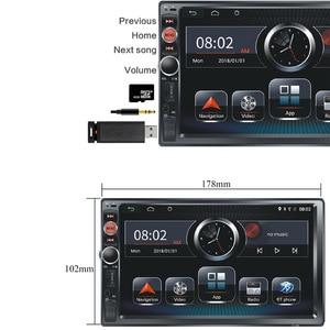 Image 2 - 2G RAM 2 din Car Radio 2Din Android Autoradio Multimedia Player Auto audio for Nissan Hyundai Kia toyata lada Chevrolet Ford BYD