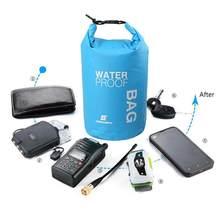 Sportowe worek wodoszczelny Dry Bag plecak pływający żeglarstwo kajakarstwo Rafting Camping piesze wycieczki rzeki pływanie zestawy podróżne 2L Dropshipping