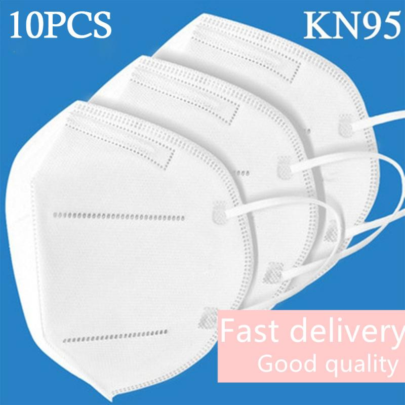 10pcs N95 5 Layers Safety Protective Mask Bacteria Proof Anti Infection KN95 Masks Particulate Mouth Respirator Anti PM2.5 Mask