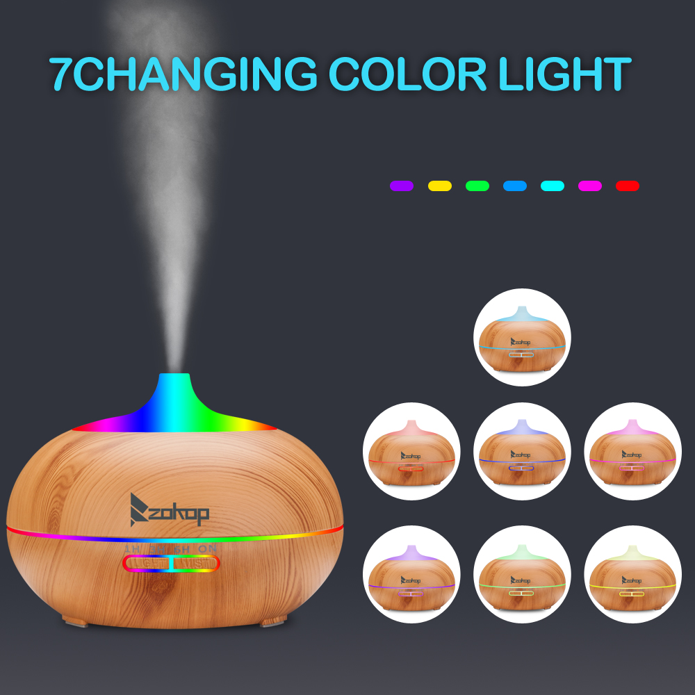 ZOKOP 1841WF 110V 550ML RGB Aroma Diffuser Night Light Without Controller  WWO66