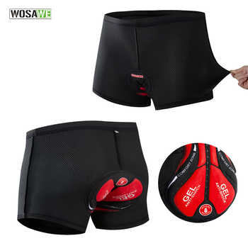 WOSAWE Men's Cycling Underwear Bicycle Mountain MTB Shorts Riding Bike Sport Underwear Compression Tights Shorts GEL Padded - DISCOUNT ITEM  20% OFF All Category