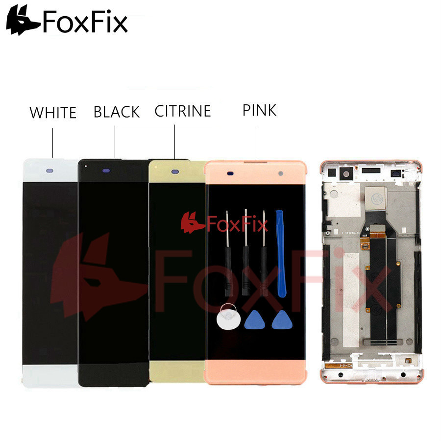 For Sony Xperia XA LCD Display Touch Screen Digitizer Assembly For SONY XA LCD With Frame F3111 F3113 F3115 Replacement